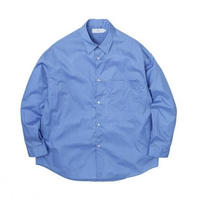 Graphpaper MEN Broad Oversized L/S Regular Collar Shirt BLUE GM214-50013
