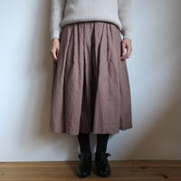 YAECA WRITE WOMEN タックスカート BROWN 99662