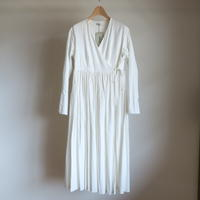 YAECA WOMEN ラップギャザードレス CLOUD 60716
