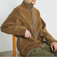 Graphpaper MEN Wool Boa Hi-Neck Full Open Blouson 3colors GU193-70042
