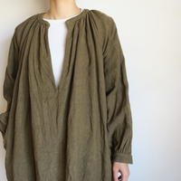 YAECA WRITE WOMEN GATHER BLOUSE LONG OLIVE 99115