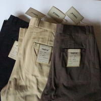 YAECA MEN CHINO CLOTH PANTS タックテーパード 10655 3colors