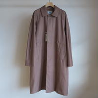 YAECA MEN SOUTIEN COLLAR COAT STANDARD BROWN 10552