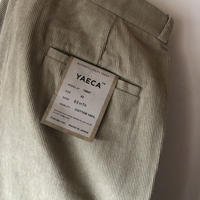 YAECA MEN CHINO CLOTH PANTS タックストレート CD 2colors 19657