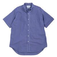 Graphpaper MEN Thomas Mason S/S B.D Shirt NAVY ST GM192-50034B