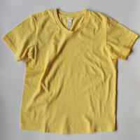 YAECA WOMEN 丸胴 Vネック Tシャツ 170209 YELLOW