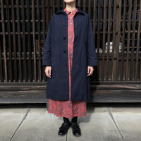 YAECA WOMEN SOUTIEN COLLAR COAT STANDARD NAVY 69552