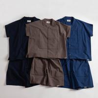 "NOWHAW ""square"" pajama 洗い晒しコットン 2colors"
