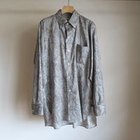 KAPTAIN SUNSHINE Polocollar Shirt GREY PAISLEY