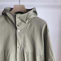 YAECA ユニセックス 60/40クロスフードシャツ BEIGE