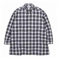Graphpaper MEN Fine Wool Check Oversized Shirt GM203-50054