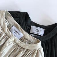 YAECA WRITE WOMEN ギャザーブラウス ロング 2colors 90740