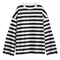 Graphpaper WOMEN Border L/S Slit Tee WHITE×BLACK GL201-70146B