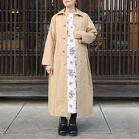 YAECA WOMEN SOUTIEN COLLAR COAT LONG KHAKI 60503