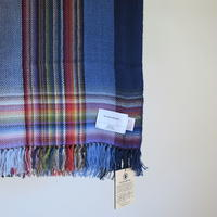 THE INOUE BROTHERS ... Multi Colored Scarf Navy