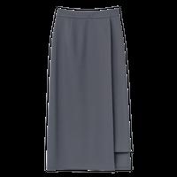 Graphpaper WOMEN Compact Ponte Wrap Skirt 3colors GL203-40035B