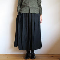 YAECA WOMEN タックキュロット BLACK 98661