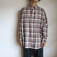"Graphpaper MEN ""THOMAS MASON"" for GP Check Oversised B.D Shirt"