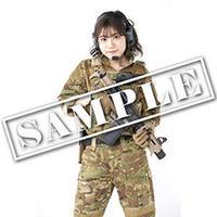 花谷麻妃サバゲファッションブロマイドセット