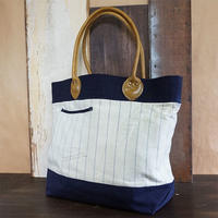 Vtg Stripe Tote Bag