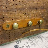 Vtg Brass knob Wall hanger C