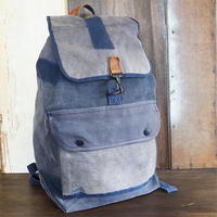 Vtg Blue Canvas Rucksack