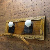 Vtg White knob Wall hanger