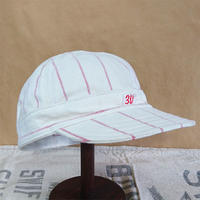 "Vtg Stripe Work Cap ""30"""