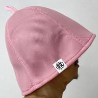 M サイズ ピンク ✅次世代 ® 3層構造 ポリエステル・メッシュ素材 サウナハット ハンドメイド オリジナル商品 男女兼用 ゆったり
