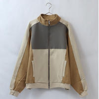 switching track jacket - BEIGE