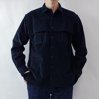 relax mackinaw shirts jacket - CORDUROY BALCK