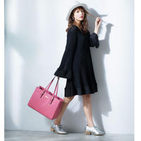 PAPRIKA 【レクタングラー・ボクシーレザートートバッグ】本革-日本未発売-4カラー