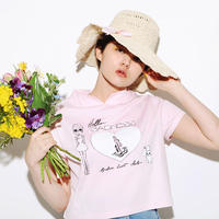 """HELLO SADNESS"" TOPS / Pink"