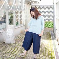 YAMMA   会津木綿キュロットパンツ ロング丈(股上5+丈5+)