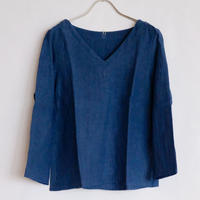 YAMMA   リネン定番Vネックシャツ
