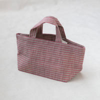 HARAPPA  会津木綿ミニバッグ(小)ピンク縞