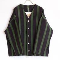 YAMMA   会津木綿ダボ袖ジャケット ロング丈