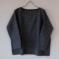 YAMMA   会津木綿カフスシャツ  紺スラブ