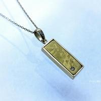 ギベオン隕石&ダイヤモンド18Kネックレス