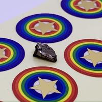 ネットショップ限定・隕石入門セットA【宇宙パワーシール18mm×3組+隕石の粒】