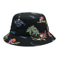 Carhartt Wip / Beach Bucket Hat - Beach Print Black