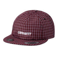 Carhartt Wip / Alistar Cap - A Check Bk/EtnaRed