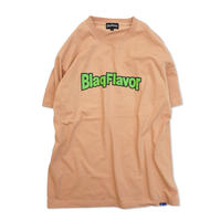 Blaq Flavor / S/S Basic Logo Tee - Coral Pink/Lime Green