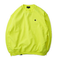 Blaq Flavor / Chest Logo Sweat - Neon Yellow