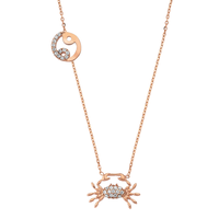 Rose Gold 925 Zodiac necklace Cancer /かに座