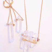 Crystal necklace and Pierce set
