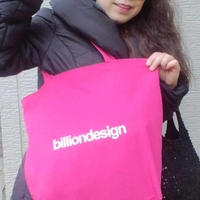 billiondesign トートBAG(ピンク)