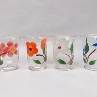 お花がらのリキュールグラス