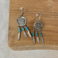 USED happy color pierce (silver,turquoise color)