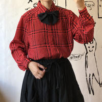 lady's bow tie blouse